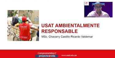 Coordinador ambiental USAT es ponente en I Encuentro Internacional de Universidades y Gobiernos Locales