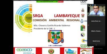 Coordinador ambiental USAT preside la 1° Sesión Ordinaria de la Asamblea de la Comisión Ambiental Regional de Lambayeque
