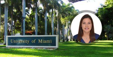 Egresada de Ingeniería Industrial realizará una maestría en la Universidad de Miami