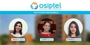 Egresadas de la Facultad de Derecho realizan prácticas profesionales en Osiptel