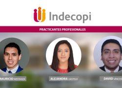 Egresados de la Facultad de Derecho son seleccionados para realizar prácticas profesionales en el Indecopi
