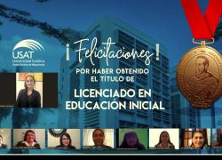 Estudiante obtiene título profesional en la primera sustentación virtual de la Escuela de Educación USAT