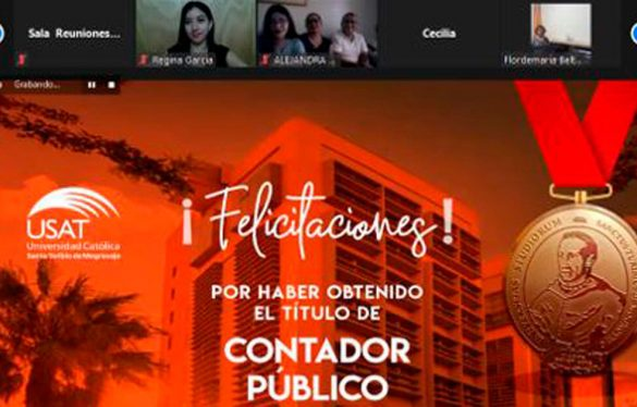 Estudiantes de la Escuela de Contabilidad sustentan tesis de titulación de manera virtual