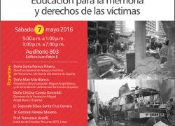 El terrorismo: Amenaza global Educación para la memoria y derechos de las víctimas.