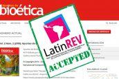 """La revista digital """"Apuntes de Bioética"""" logró su indexación a LatinREV (Red Latinoamericana de Revistas)"""