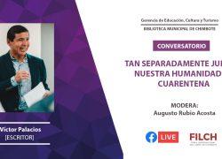 """""""Nuestra humanidad en cuarentena"""": Docente USAT participó en conversatorio de la Biblioteca Municipal de Chimbote"""