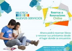 Nuevos servicios:  reservas y renovaciones online