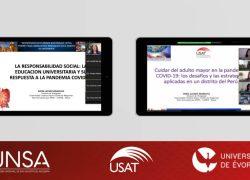 Programa con adultos mayores y experiencia de RSU USAT son presentados en eventos internacionales