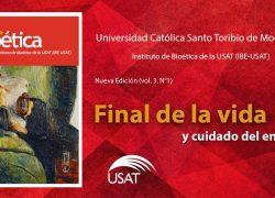 Revista 'Apuntes de Bioética' USAT lanzó su nueva edición sobre final de la vida y cuidado del enfermo