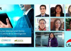 Siete docentes Renacyt son capacitados en Curso Internacional Online sobre Cultura de la Investigación organizado por la UNIR