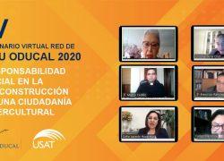 USAT anfitrión del IV Seminario Virtual Red de RSU ODUCAL 2020