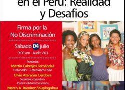 Jornada. Afrodescendientes en el Perú: Realidad y Desafíos, Firma por la no Discriminación