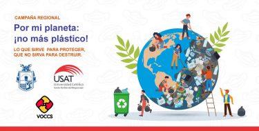 La USAT e instituciones regionales lanzan campaña Por mi planeta, ¡no más plástico!