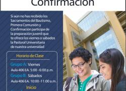 Catequesis Universitaria 2015: Bautismo, Primera Comunión y Confirmación