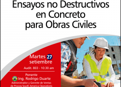 Conferencia Magistral: Ensayos no Destructivos en Concreto para Obras Civiles