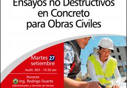 Conferencia Magistral: Ensayos no Destructivos en Concreto para Obras Civiles