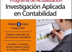 Programa de Actualización: Investigación Aplicada en contabilidad