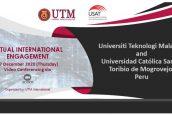 La USAT suscribe acuerdo de cooperación académica  con la Universidad Tecnológica de Malasia