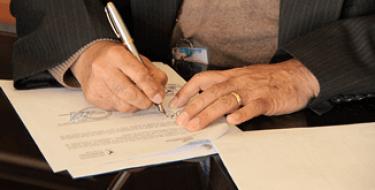 Se firma Convenio de Cooperación Interinstitucional entre la USAT y PEOT