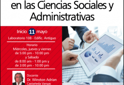 Curso Taller: Investigación Cuantitativa en la Ciencias Sociales y Administrativas