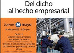 Ciclo de conferencias del Dicho al Hecho Empresarial