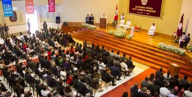 Día central de aniversario: Destacan identidad católica y responsabilidad social USAT