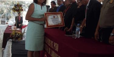 Profesora USAT recibe distinción de Colegio de Ingenieros del Perú