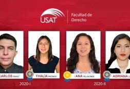 Cuatro egresados de la Facultad de Derecho USAT reciben 'Reconocimiento a la Excelencia Académica'
