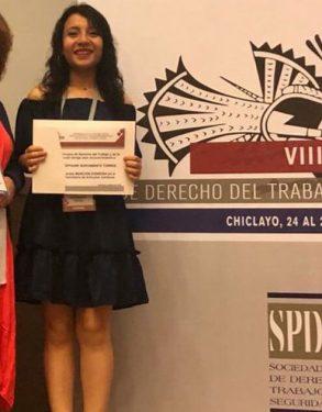 Estudiante de Derecho USAT realiza destacada participación en el Concurso Nacional de Artículos Universitarios