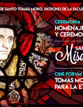 Facultad de Derecho USAT rinde homenaje a su patrón Santo Tomás Moro