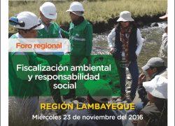 Foro regional. Fiscalización ambiental y responsabilidad social