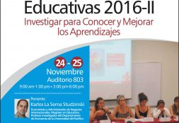 I coloquio Interregional. Investigaciones Educativas 2016-II
