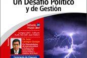 Conferencia. La Agenda Climática un Desafío Político y de Gestión