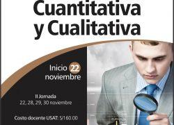 Curso. Investigación Cuantitativa y Cualitativa