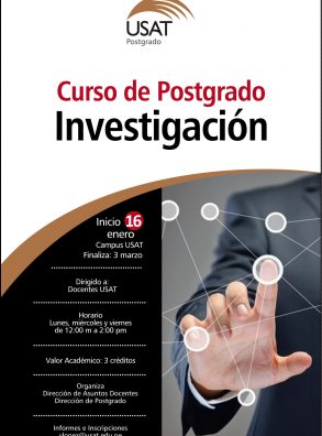 Curso de Postgrado. Investigación