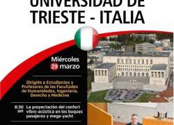 Ciclo de Conferencias por profesores de la Universidad de Trieste – Italia