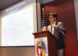 Universitarios participan en el I Foro Internacional para la Paz