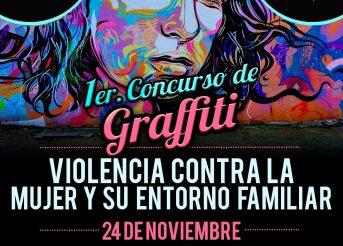 Primer concurso de Graffiti. Violencia contra la mujer y su entorno familiar