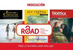 Revistas USAT logran indexación a ROAD