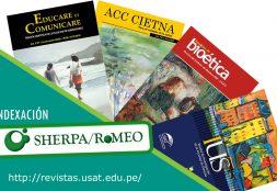Revistas USAT logran indexación a SHERPA/ROMEO