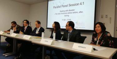 Vicerrectora de Investigación USAT participa de la International Network for Government Science Advice en Japón