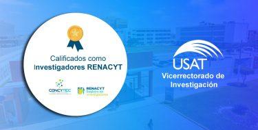 Docentes USAT se incorporan al Renacyt