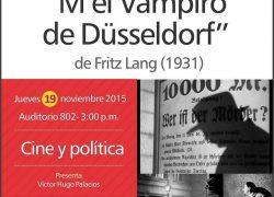 Cineforum: M El vampiro de Düsseldorf