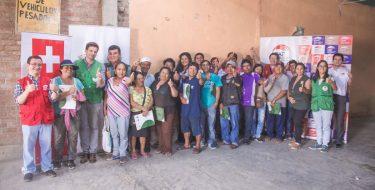 USAT, MPCH y Chiclayo Limpio capacitan a recicladores del botadero de Reque
