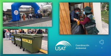Compromiso ambiental: USAT participa en Primer Reciclatón organizado por la MPCH