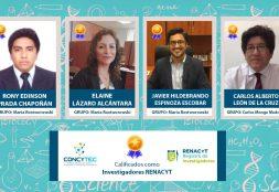 Cuatro docentes USAT califican como 'Investigadores Renacyt'