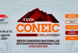 USAT es sede del XXVIII Congreso Nacional de Estudiantes de Ingeniería Civil-CONEIC Chiclayo 2021